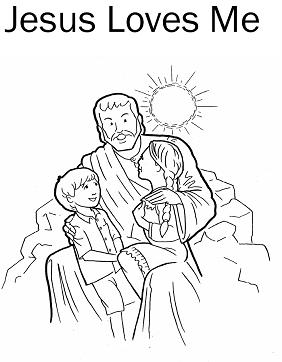 Jesus Love Friends Colouring Pages